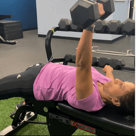 Personal training bench press